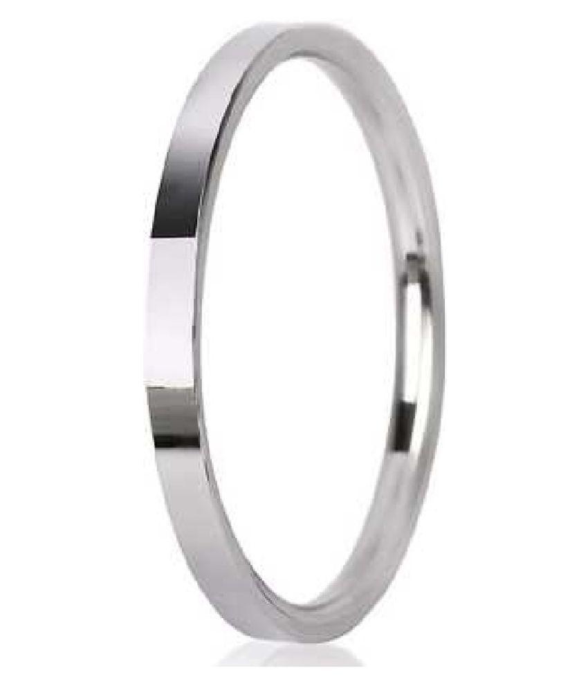 Pure Silver Punjabi Round Kada/Bracelet for Men & Men by Ratan Bazaar