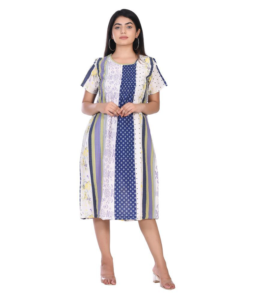 Gianna Multi Color Cotton Gown