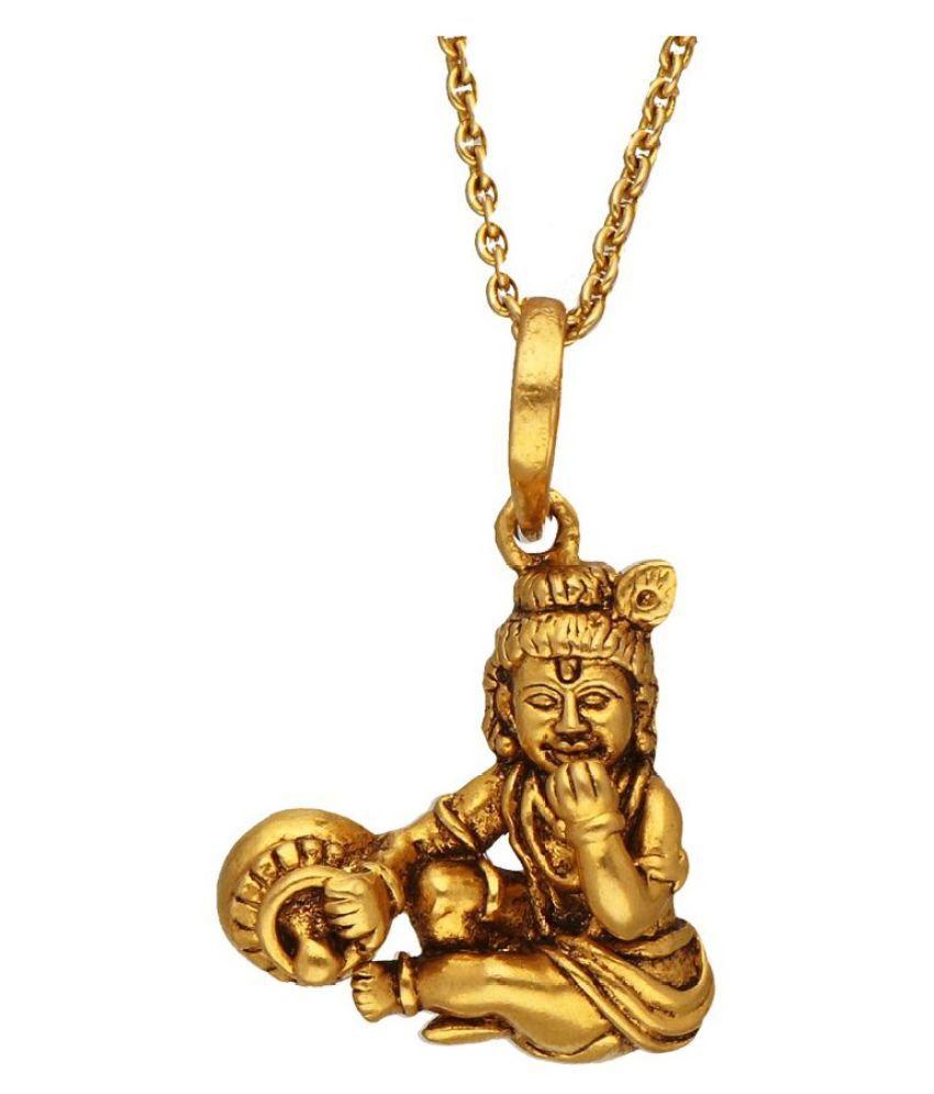 RATAN BAZAAR - Gold Chain with Shri Krishna(Laddu Gopal )  Pendant for Men & Women