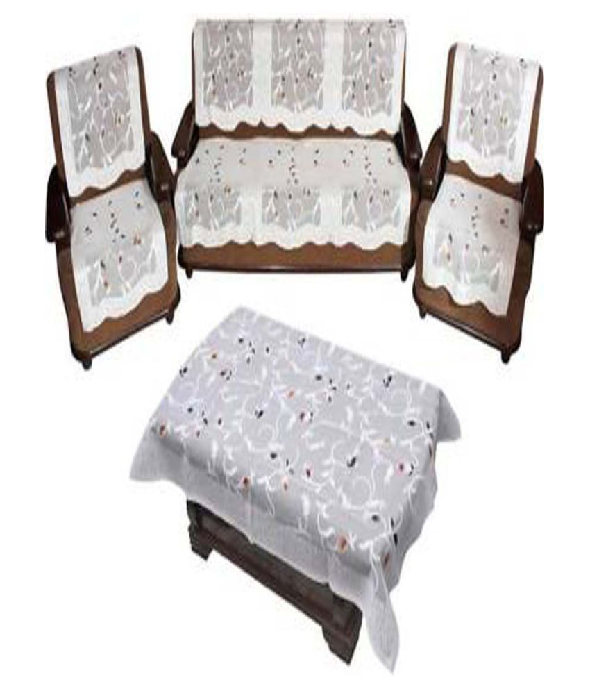 vivek homesaaz 5 Seater Polyester Set of 11 Sofa Cover Set