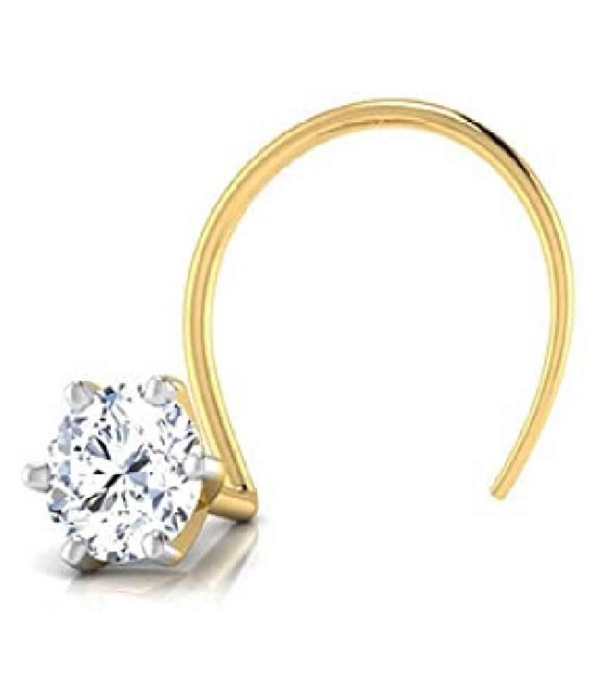 American Diamond Gold Plated Nose pin for Women & Girls by Kundli Gems