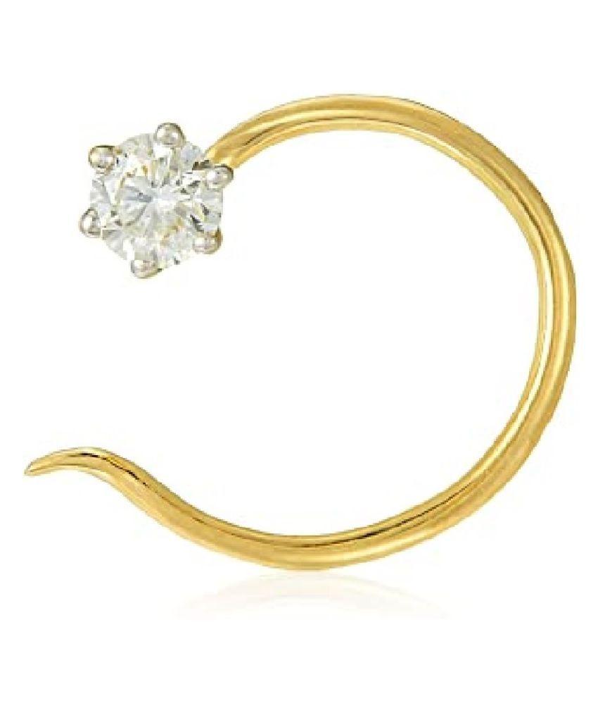 Kundli Gems - Natural diamond nosepin original & certified american diamond Nose pin for women & girls