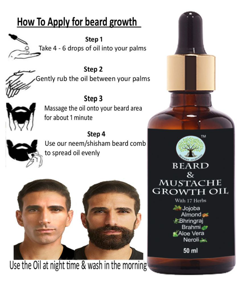 MODERN AYURVEDA Premium Powerful Extracts Beard Growth Oil 50 mL