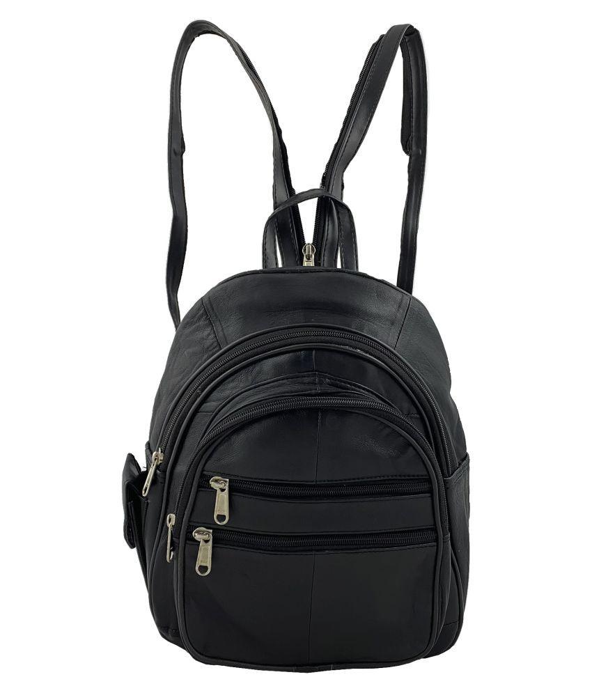 Aspen Leather Black Backpack