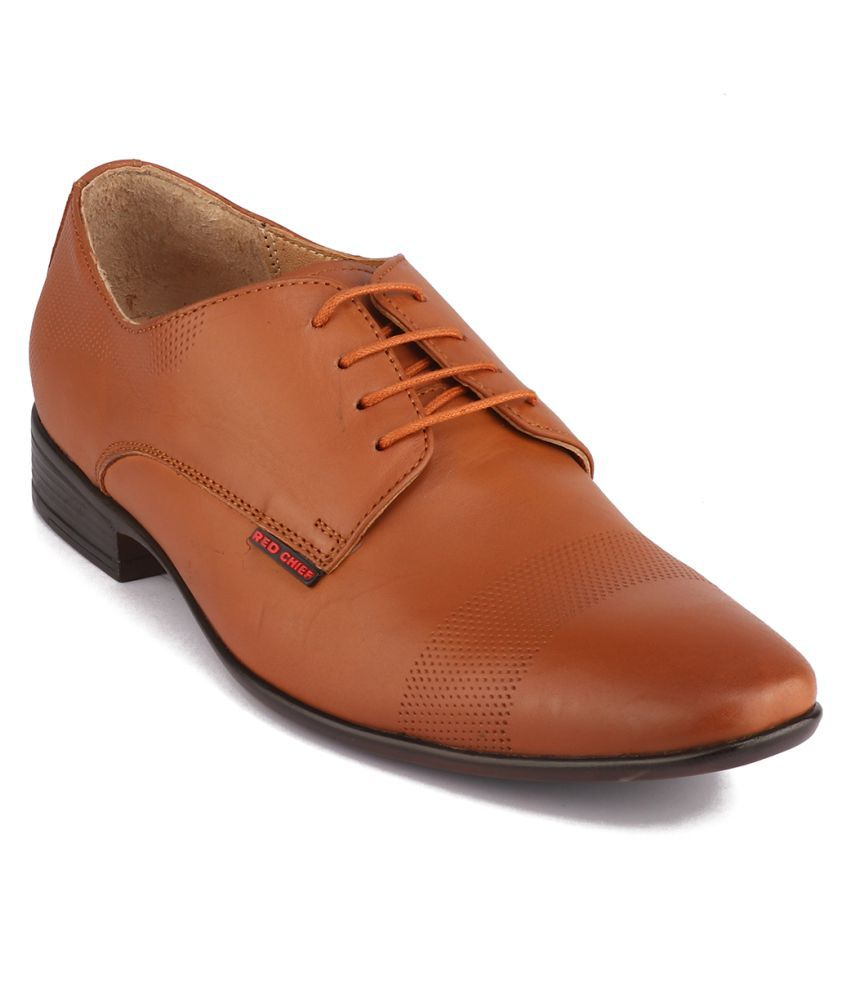 Red Chief Tan Formal Shoes