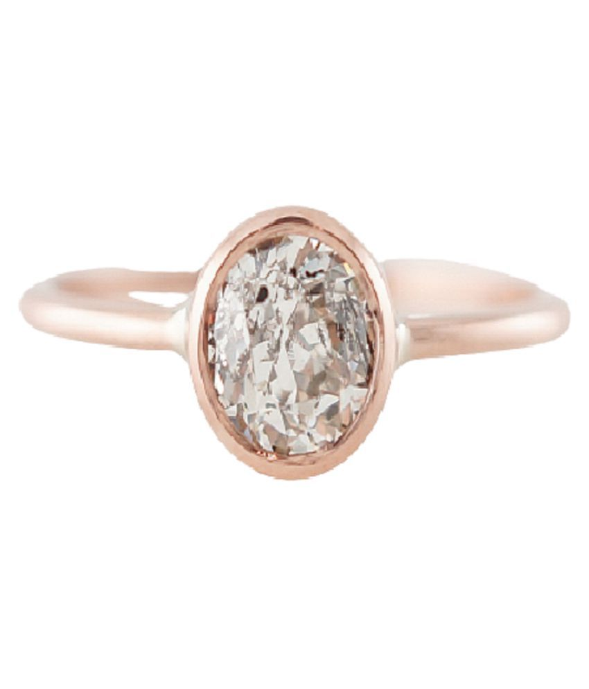 7 ratti Gold Plated White Sapphire Ring for unisex by Ratan Bazaar\n