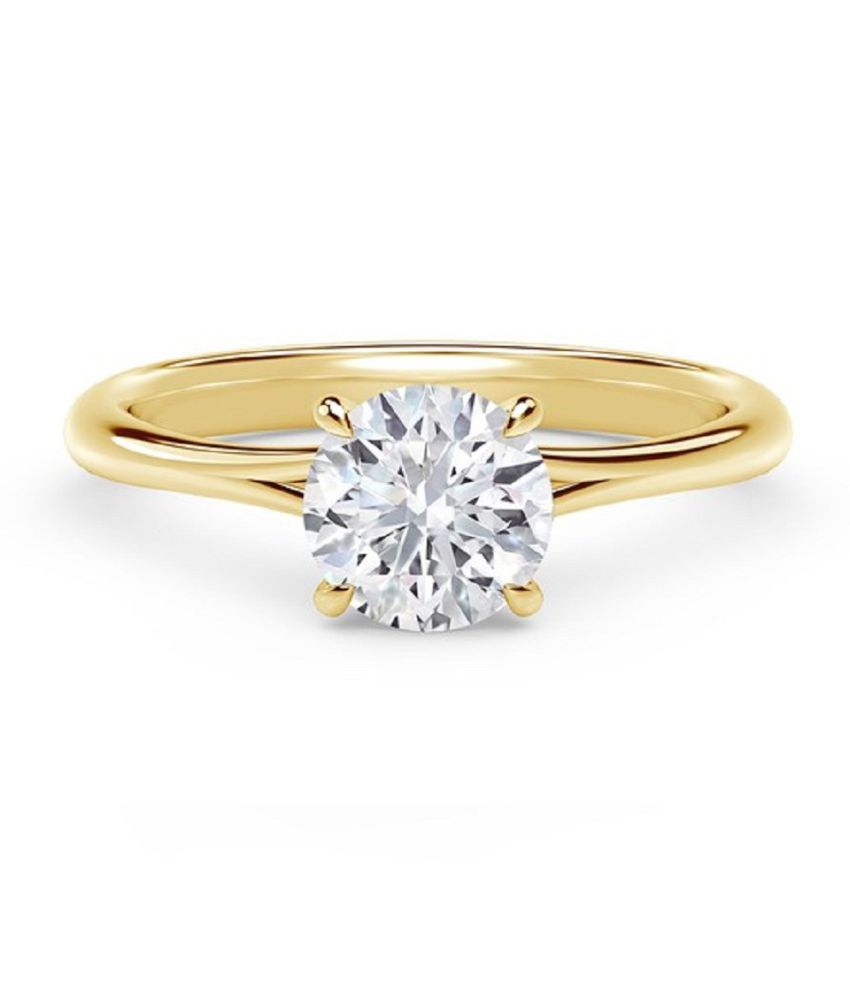 8 ratti Natural White Sapphire Stone Unheated Lab Certified pure Gold Plated Ring by Ratan Bazaar\n