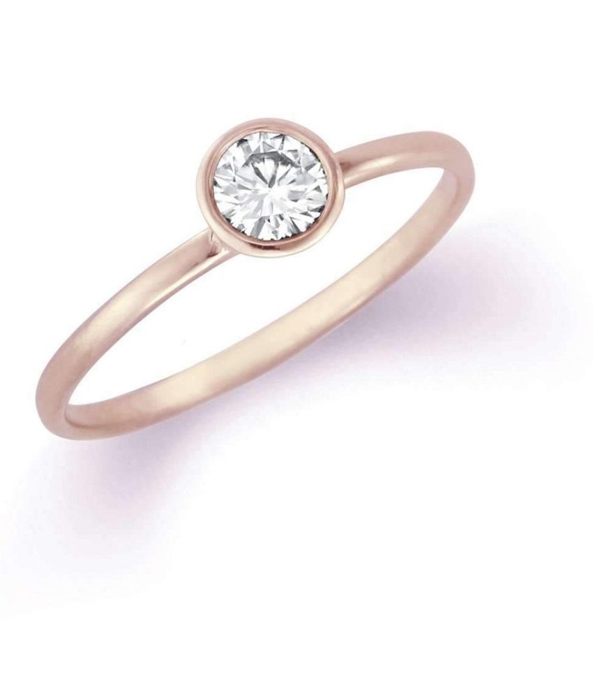 8 ratti stone pure White Sapphire Stone Gold Plated Ring for unisex by  Ratan Bazaar\n