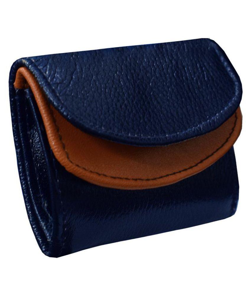ABYS Leather Blue Formal Regular Wallet