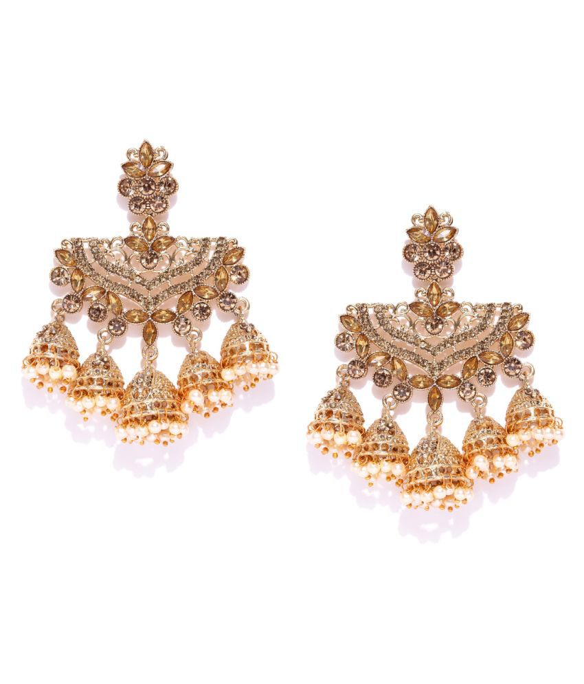 Asmitta Wedding wear Embellished with Kundan Pearl Dangle/Jhumki Earrings