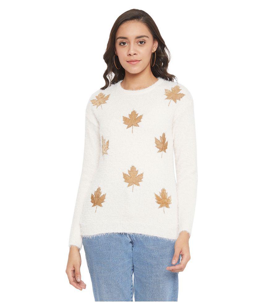 Crimsoune Club Polyester Blend Beige Pullovers
