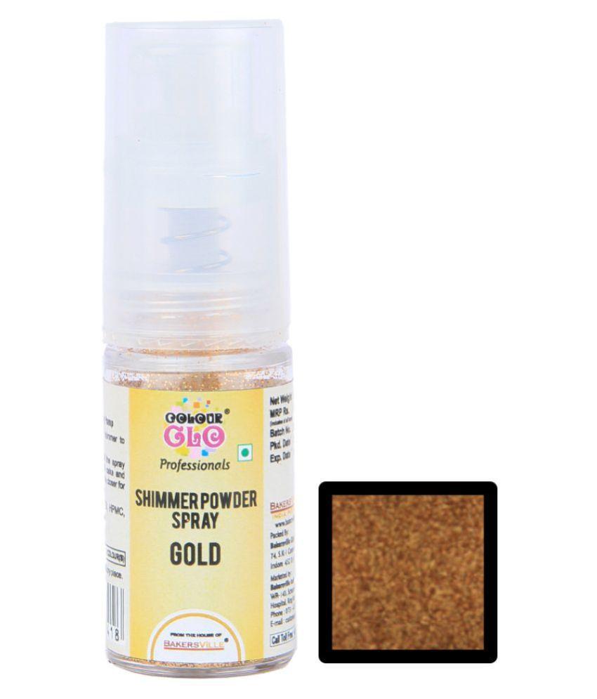 Colourglo Edible Shimmer Powder Spray ( Gold ), 5 g
