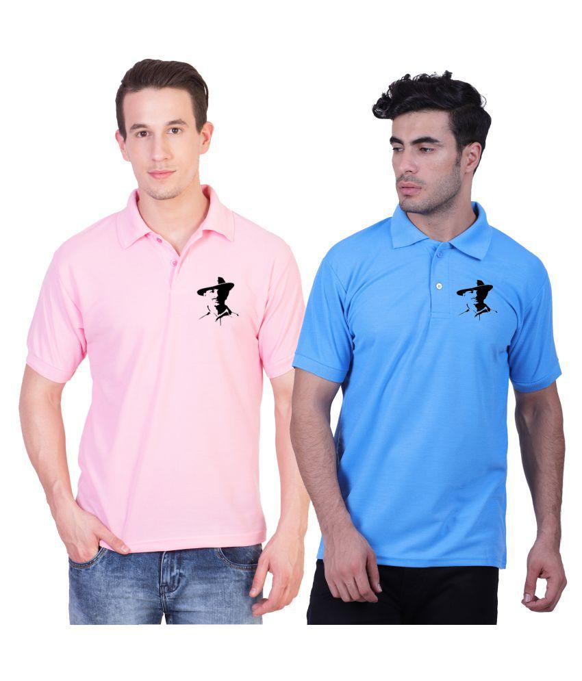 HVN Cotton Nylon Multi Printed Polo T Shirt