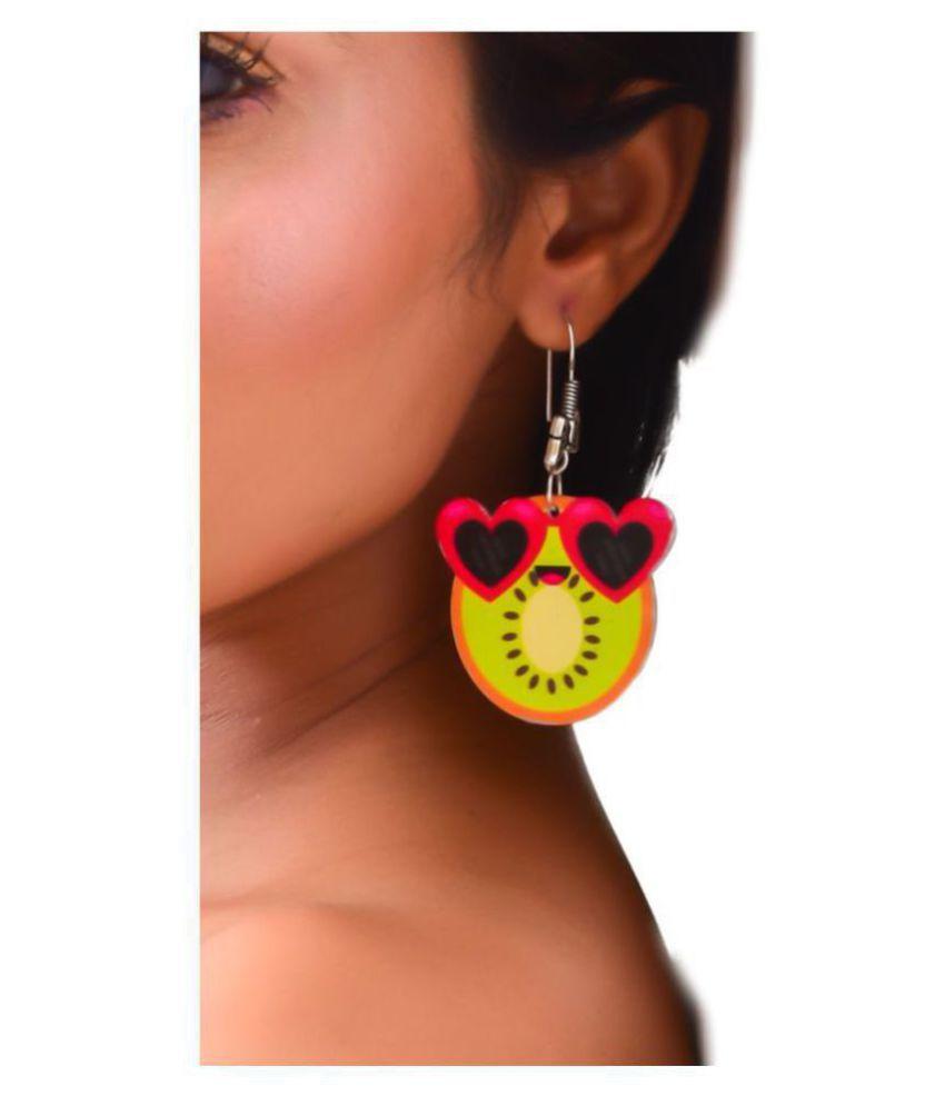 Kiwi Love On Beach Dangling Earrings