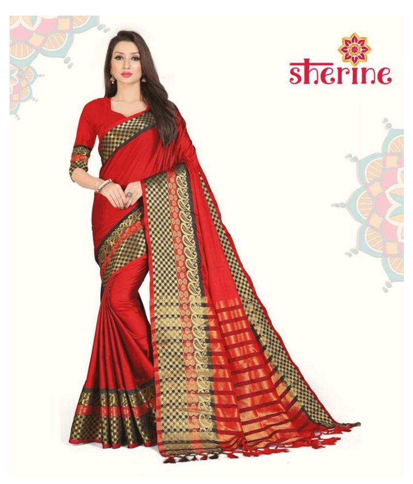 Sherine Red Silk Saree