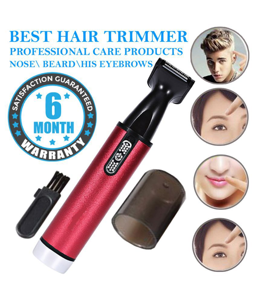 AD Electric 4IN 1 FACE CARE Trimmer Hair Removal Stainless Steel Blade nose Cutt Casual Gift Set