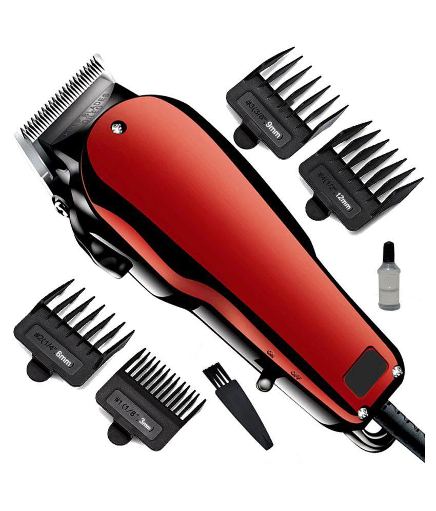 DGM Men's Big Powerful Waterproof Corded 9W Beard Mustache Trimmer Hair Clipper Multi Casual Fashion Comb