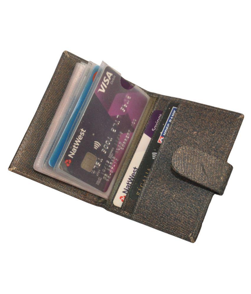 RFID Protected Genuine Leather 18 Slot Credit Card Holder