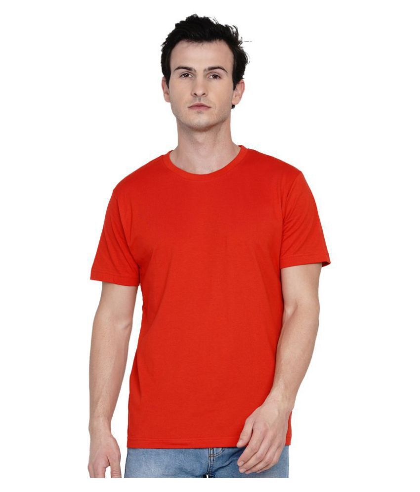 Knits and Weave 100 Percent Cotton Red Solids T-Shirt