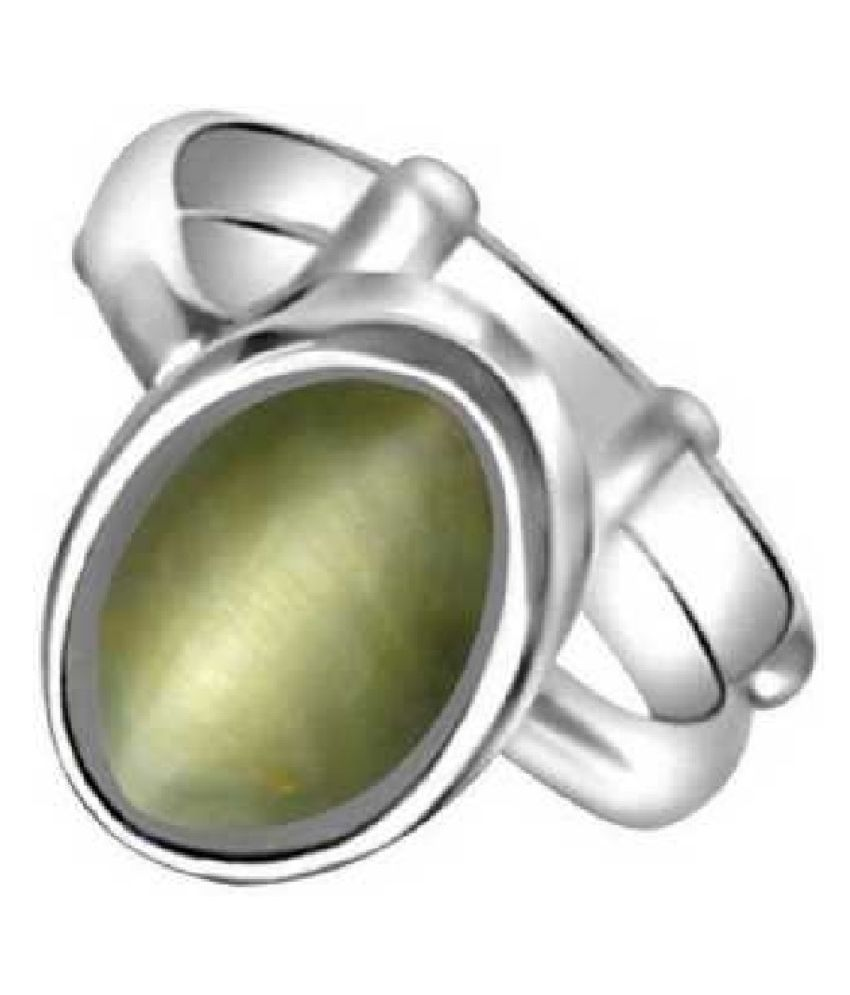 6.5 RATTI  Silver  Cat's Eye Silver Ring  by KUNDLI GEMS\n