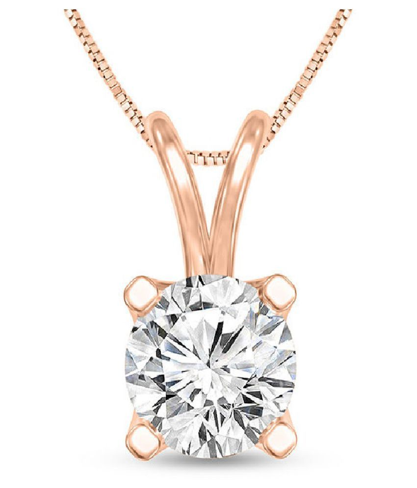 Natural Gold Plated 5.5 Ratti Zircon Pendant by KUNDLI GEMS\n