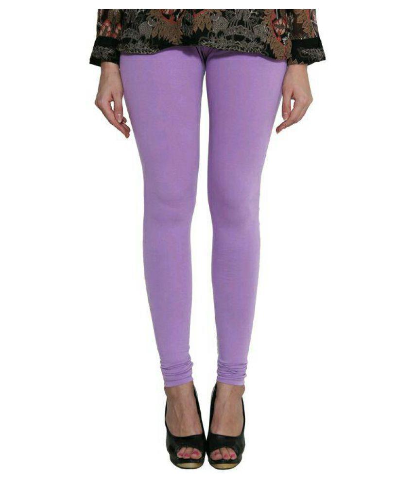 SK Creation Cotton Lycra Jeggings - Purple
