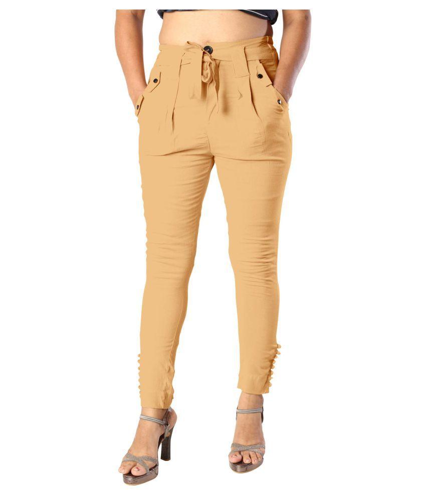 elenia Cotton Jeans - Beige