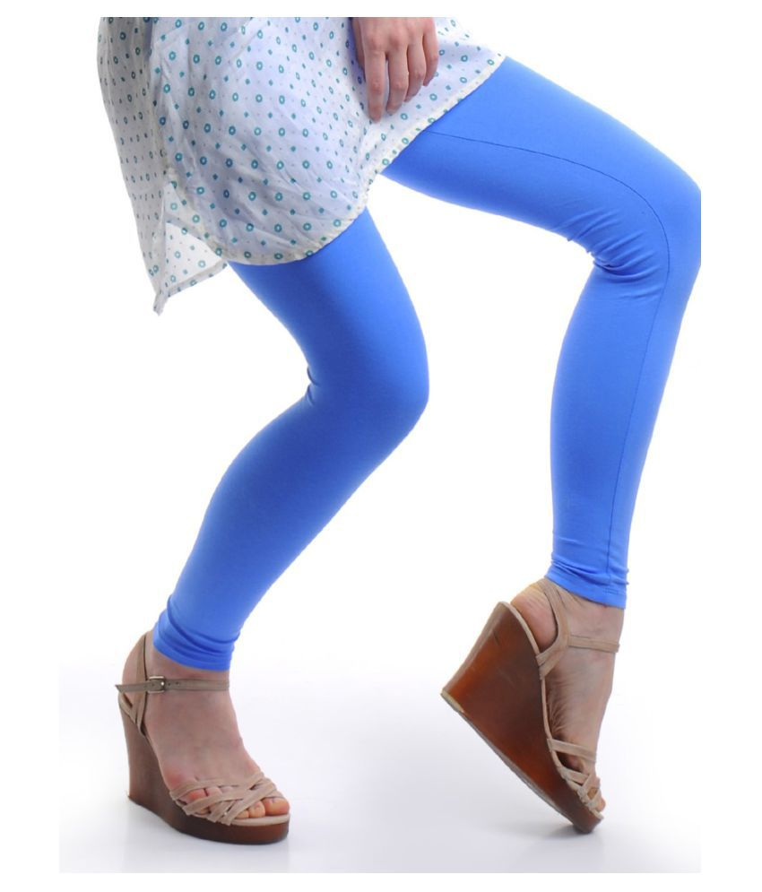 Femmora Cotton Lycra Tights - Blue