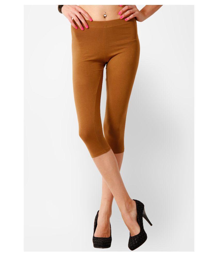 Femmora Cotton Lycra Tights - Brown
