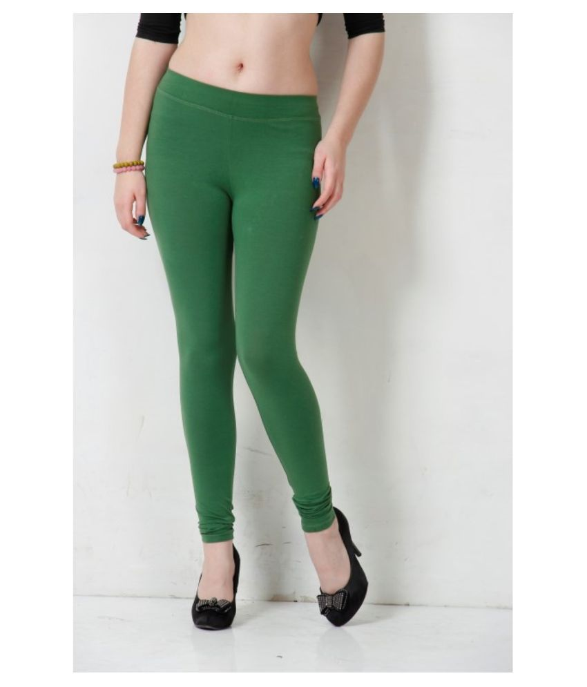 Femmora Cotton Lycra Tights - Green