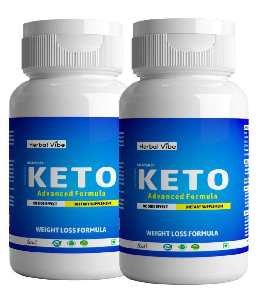 Herbal Vibe Keto Capsule Fat Burner Weight Loss 120 no.s Natural Pack of 2
