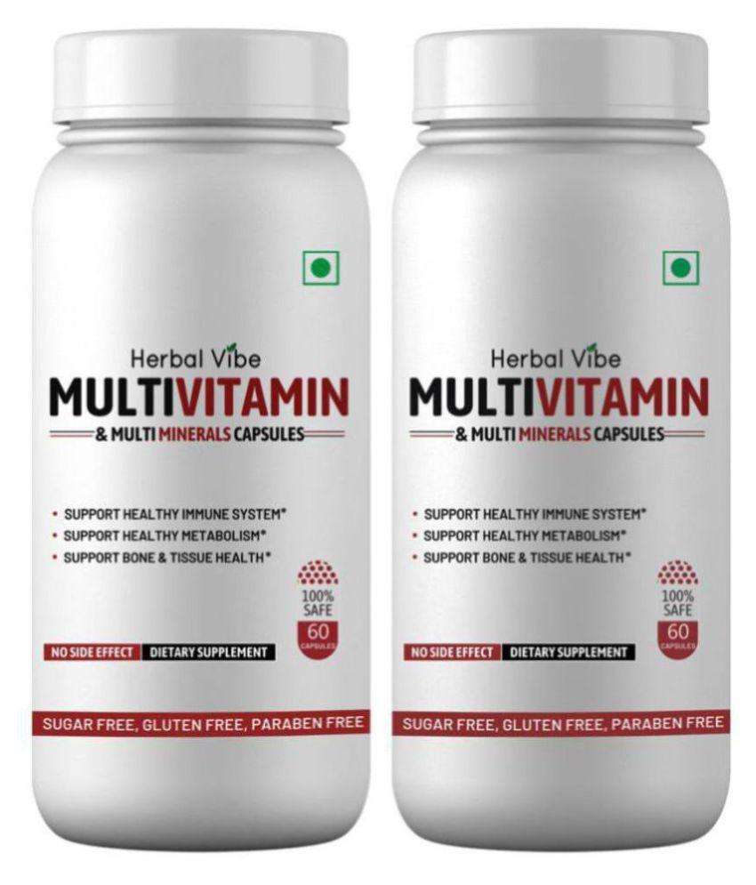 Herbal Vibe MultiVitamin Capsule Multi Vitamin C etc. Capsule 120 no.s Pack of 2