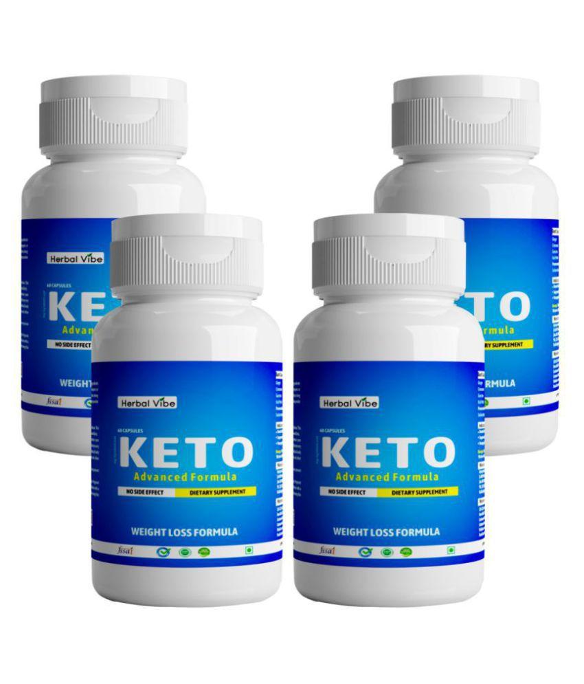 Herbal Vibe Weight Loss Capsule Keto Capsule 240 no.s Natural Pack of 4