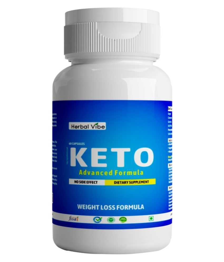 Herbal Vibe Weight Loss Keto Capsule Fat Burner 60 no.s Unflavoured Single Pack