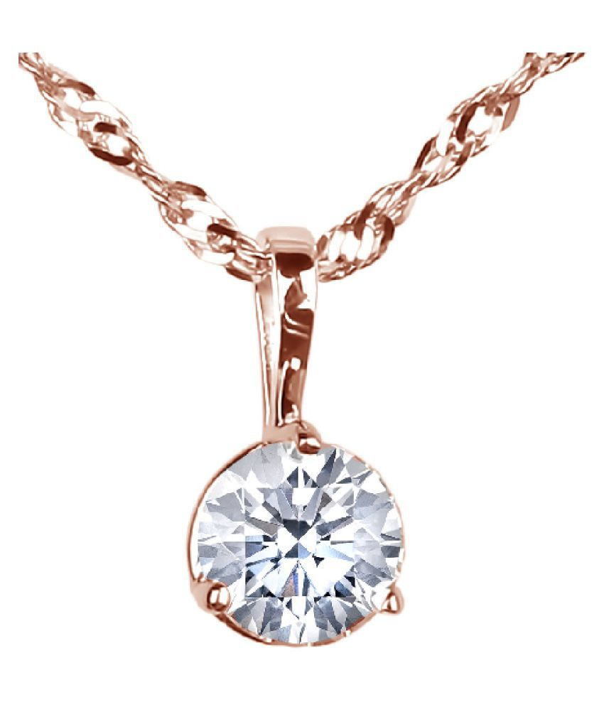 7.5 Carat Zircon Gold Plated Pendant for unisex by KUNDLI GEMS\n