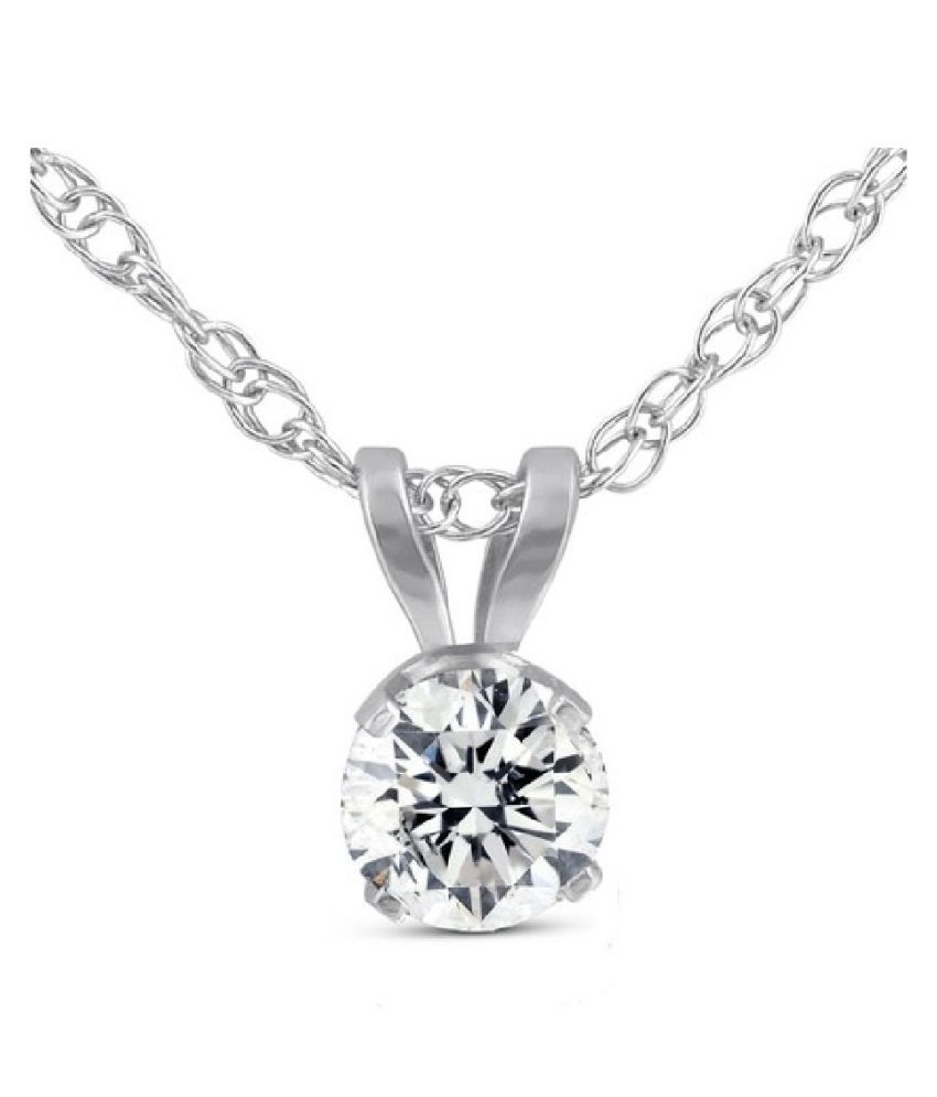 natural 7.25 Carat Zircon  pure Silver Pendant for unisex by KUNDLI GEMS\n