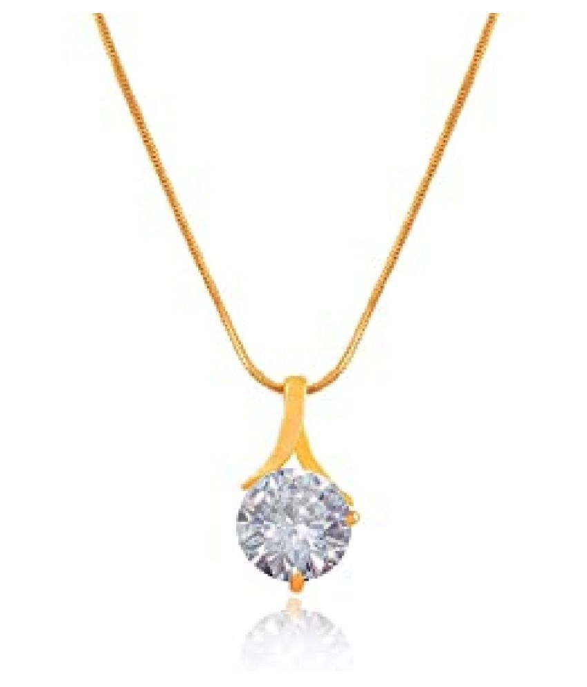 natural 7.25 Ratti Zircon  pure Gold Plated Pendant for unisex by KUNDLI GEMS\n