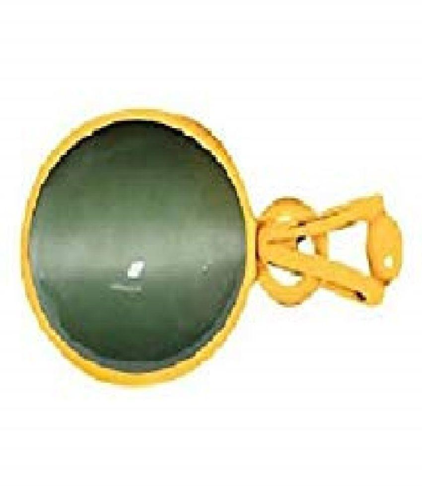 6.25 Ratti Cats Eye Pendent Ashthadhatu with Gold Plated For Men & Women… Gold-plated Cat's Eye  Pendant by RATAN BAZAAR