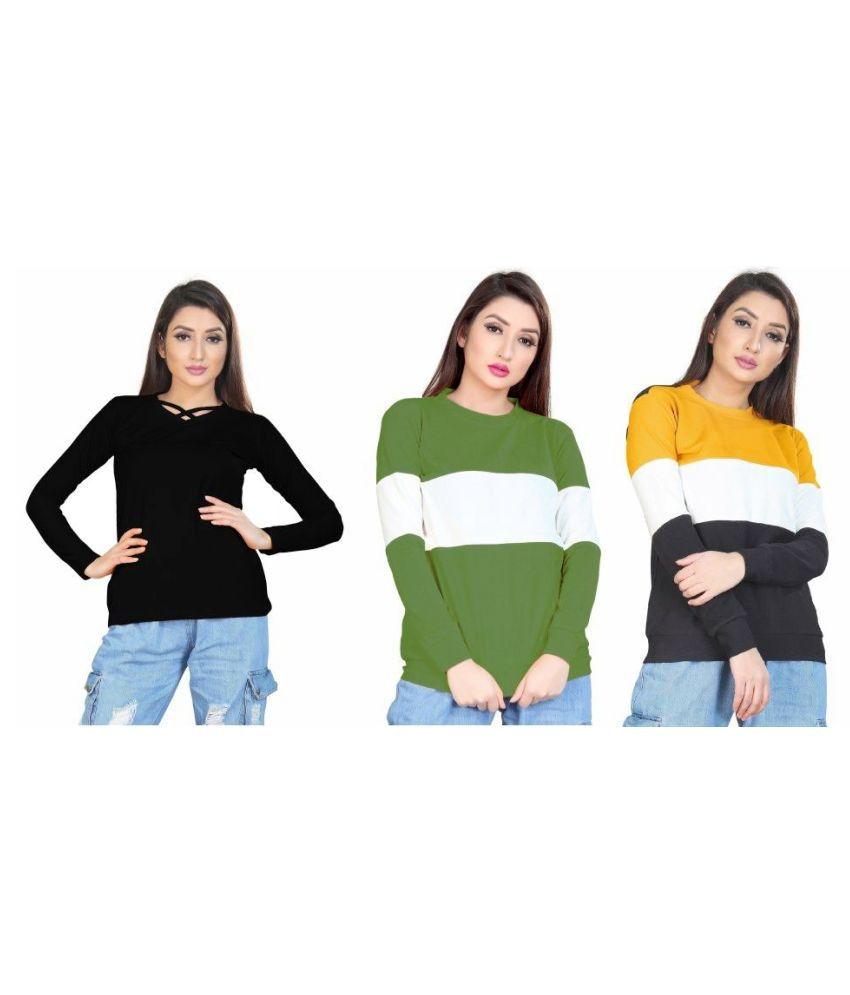 Alposh Viscose Multi Color T-Shirts