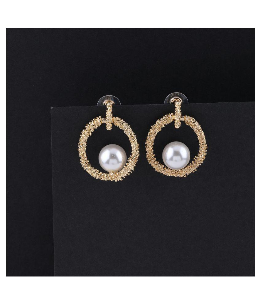 Party Wear Charm Pearl Stud Earring For Women Girl