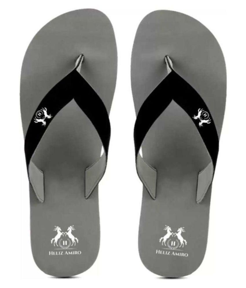 Heliz Amiro Gray Daily Slippers