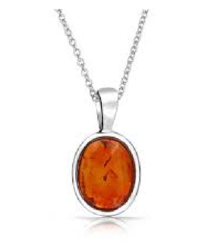 8 Ratti Amber Pendant with Natural silver Amber Stone by Ratan Bazaar