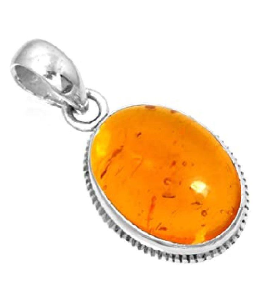 Amber Pendant 8.5 carat  silver Pendant  by  Ratan Bazaar