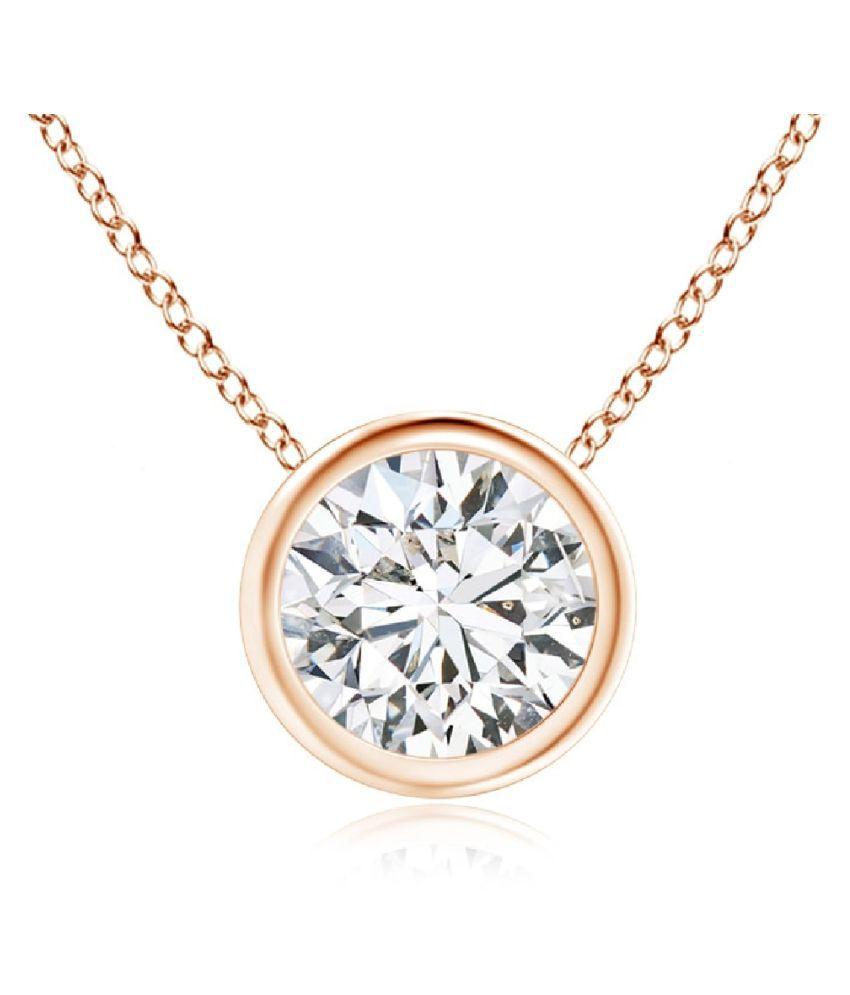 Gold Plated American Diamond Pendant  American Diamond   Pendant by Ratan Bazaar