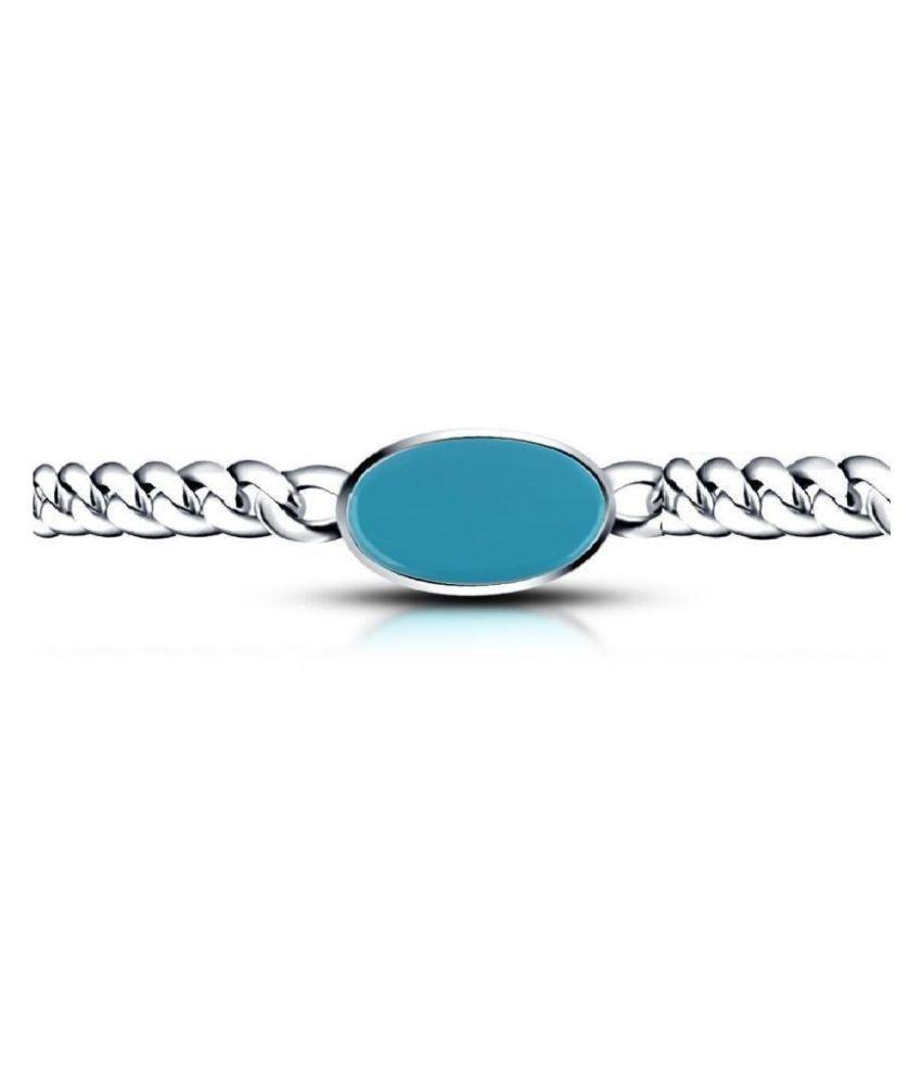 Ratan Bazaar - Silver Plated Bollywood Salman Bracelet for Men  & Women