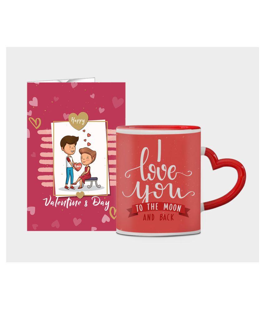 Festa Ceramic Valentine Hamper Red - Pack of 2