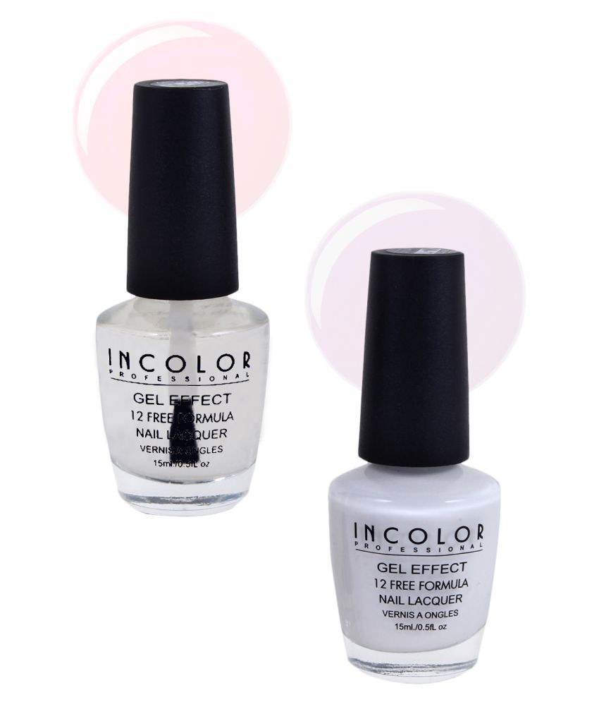 Incolor Incolor Nail Polish Combo 01 White Matte Pack of 2 15 mL