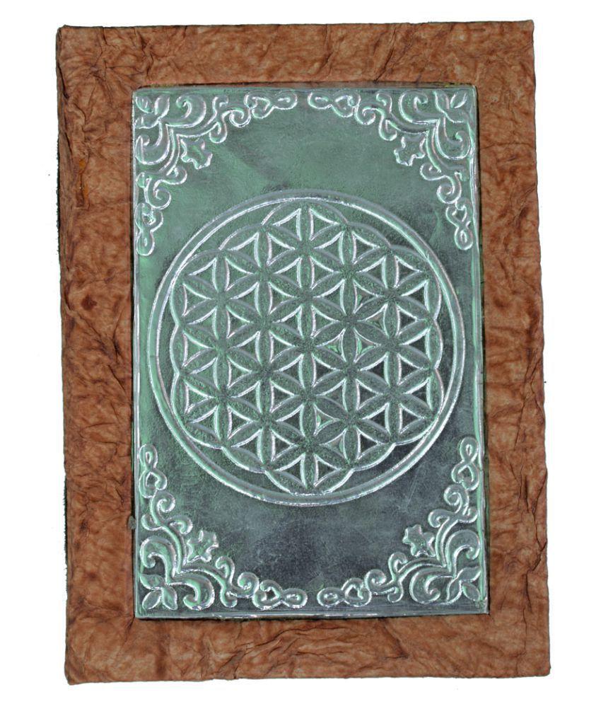 Circle of Life Metal Work Handmade Paper Diary, Eco-Friendly, (20 x 15 x 2.5) Cm
