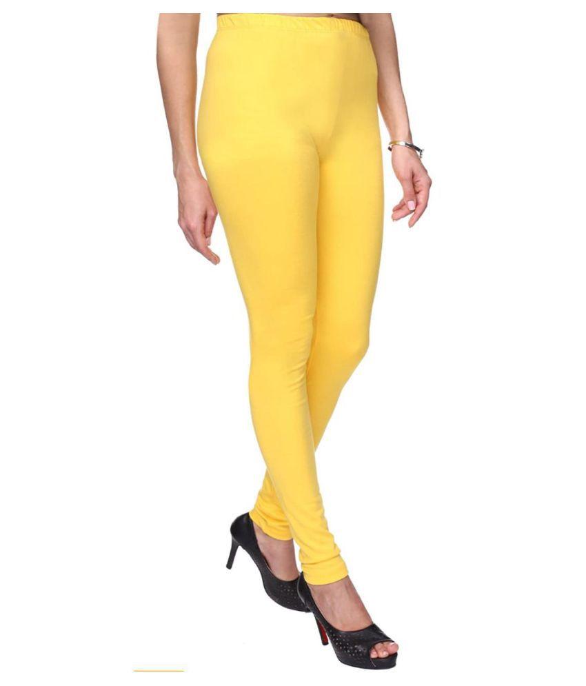 Polestar Cotton Lycra Jeggings - Yellow