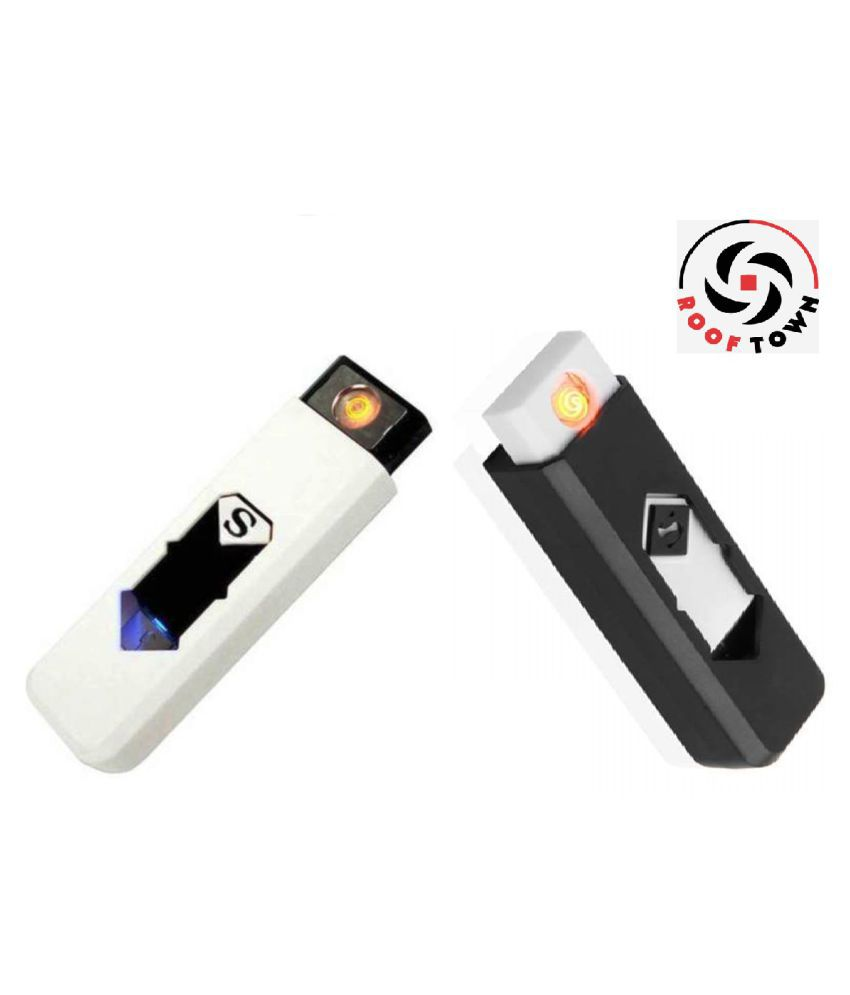 Rooftown Electronic flameless USB lighter pack of 2